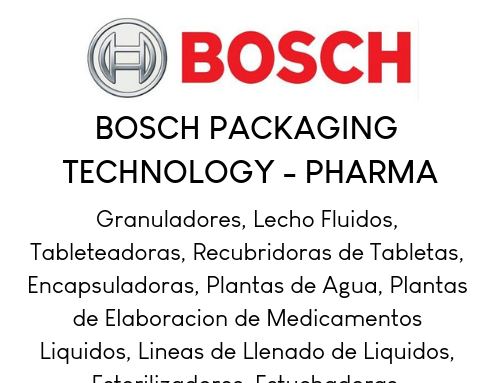 Bosch Packaging (Pharma) ES